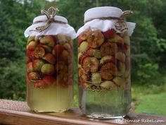 How to make apple cider vinegar from crabapples. A picture tutorial. Make Apple Cider Vinegar, Apple Cider Vinegar Remedies, Crab Apple Recipes, Fermented Foods, Canning Recipes, Drinking Tea, Kimchi, Food Hacks, Herbalism