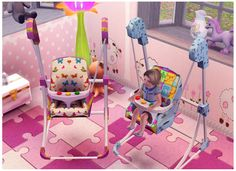 ava-lynn:  Baby Bouncy chair conversion TS2 tot TS3 -recolorable (I hope xD) Any problems, just msg me. Credits goes to christiaan-mark-silwermoon <3 ILY babes <3 Download here <3