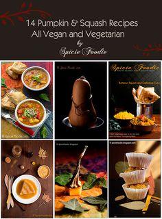 14 Pumpkin and Squash Vegetarian and Vegan Recipes | #pumpkin #squash #recipes #vegan #vegetarian