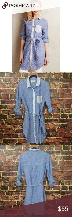 """Anthropologie Holding Horses Striped Tunic So cute and Perfect dressed up or down ! Looks great with white skinny jeans . Excellent Pre worn condition !  Bust - 16"""" Length - 35 Anthropologie Tops Tunics"""