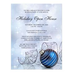 Festive Business Holiday Open House Flyer Template #holiday #open #house #flyers #business