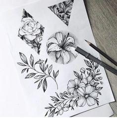 D e l a n e y s a v a n n a h diseños de tatuajes 2019 - Tattoo designs - Dessins de tatouage Neue Tattoos, Arm Tattoos, Body Art Tattoos, Small Tattoos, Tattos, Flower Tattoo Designs, Flower Tattoos, Flower Designs, Tattoo Sketches