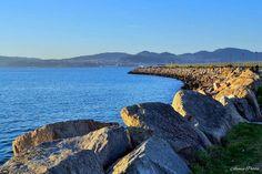 La costa gallega vista desde Bouzas, en #Vigo vía @alvaropurre #Galicia #SienteGalicia