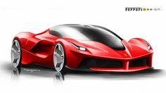 LaFerrari design Sketch http://www.carbodydesign.com/design-sketch-board/ferrari/recent/page/3/