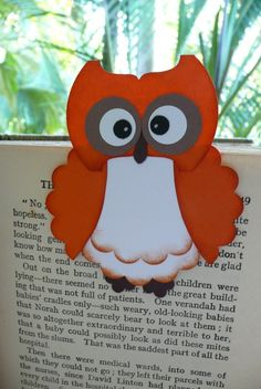 Magnetic bookmark Orange Owl by WithaBowOnTop on Etsy