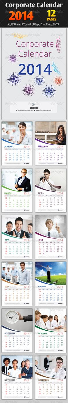 Corporate Wall Calendar Design Sample : Images about corporate calendar design on pinterest