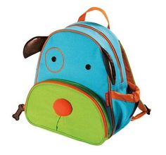 Skip Hop Zoo Little Kid and Toddler Backpack, Ages 2+, Multi Darby Dog