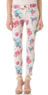 Joes Jeans floral printed Skinny Ankle Jeans / Wantering