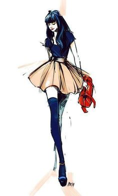 I love the stance and the hair of this croquis! Super cute fashion illustration I love the stance and the hair of this croquis! Fashion Illustration Sketches, Illustration Mode, Fashion Design Sketches, Sketch Fashion, Design Illustrations, Sketch Design, Moda Fashion, Fashion Art, Fashion Models