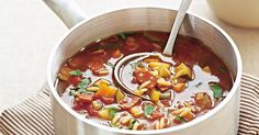 Warm up the middle of the week with a soup which is just brimming with veggies and flavour!