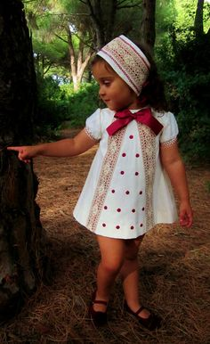 Baby toddler or girl dress by sizebonnet by Moniquesthingsshop