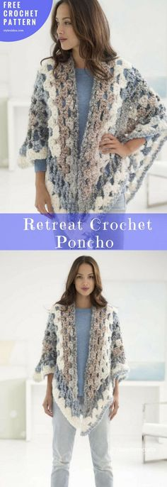 Retreat Crochet Poncho [Free Pattern] | My Hobby