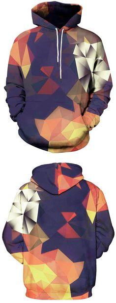 Kangaroo Pocket Geometric Printed Hoodie