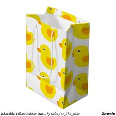 Adorable Yellow Rubber Ducks Duckies Medium Gift Bag http://www.zazzle.com/adorable_yellow_rubber_ducks_duckies_medium_gift_bag-256801369588233294?rf=238588924226571373