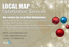 Local Map, Local Listings, Seo Services, Ornament Wreath, Christmas Bulbs, Christmas Light Bulbs