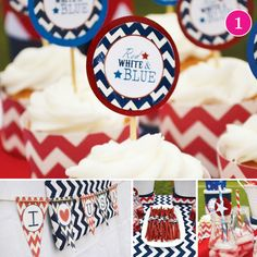 USA Chevron Party for July 4th on HWTM's weekly Party of 5!