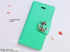 Mint Samsung Galaxy S4 case  Anchor Phone by iFashionAccessory