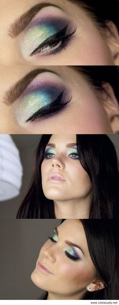 Amazing makeup for blue eyes