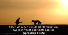 Spreuken 10:22 - dailyverses.net