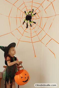 Fabriquer une toile d'araignée géante. DIY. Geant spider's web