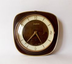 Vintage 1950s JUNGHANS  German wooden Wall clock Antique/Mid century / Interesting / Home decor