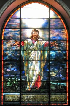 Tiffany Jesus Window in Pullman Memorial Universalist Church