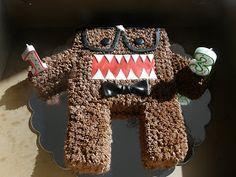 Domo, as a Nerd, Cake