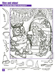 rise shine hidden picture coloring page