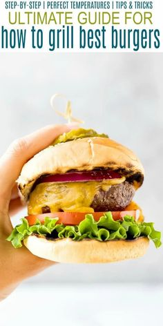 Learn How to Grill the Best Burgers out there with this easy ultimate burger grilling guide. Everything you need to know - the best meat for burgers, how to shape, how to season and how long to cook. Change up your burger game this summer! #ongasgrill #patties #easy #grilling #beef #bbq #cookout Best Meat For Burgers, Best Burger Recipe, How To Cook Burgers, Good Burger, Burger Recipes, Beef Recipes, Grilling Recipes, Quinoa Recipes Easy, Yummy Recipes