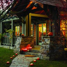 Craftsman style home during Autumn. Would love to live in one for a few years.