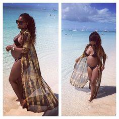 Flawless...Pregnant & wearing a bikini...