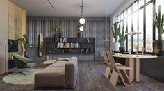 contemporary wooden interior design