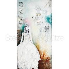 "Mixed Media Painting ""solidifies the marvel"". Phototransfer, painting, drawing, stencilART, Stamping,... http://scrapmanufaktur.blogspot.de/2016/05/im-staunen-erstarrt-mixed-media-painting.html?m=1"