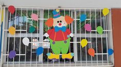 Payasito gordito #diadelniño2017 #JNLuciaAlcocerdeFigueroa Circus Theme, Circus Party, Backdrop Decorations, Backdrops, Classroom Door Displays, School Board Decoration, Tiger Crafts, Save File, School Bulletin Boards
