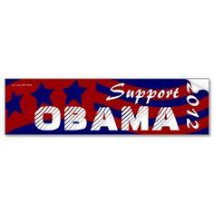 Vote Barack Obama for President 2012 Election Bumper Sticker