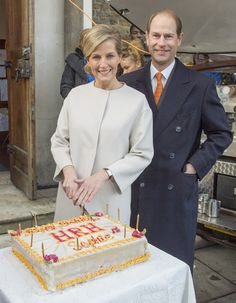 Sophie, Countess of Wessex visits the Tomorrow's People Social Enterprises at St Anselm's Church, Kennington on her 50th birthday on January 20, 2015 in London