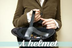 Turn a helmet into both part of your Halloween costume and a candy carrier for trick-or-treating. via @Julia Berry