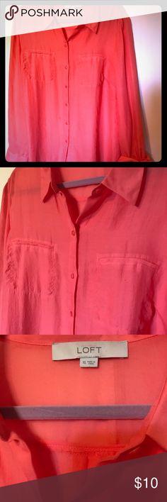 Orange Loft Blouse Lightweight orange blouse LOFT Tops Blouses