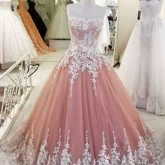 Blush pink prom dress,lace tulle prom dresses,high quality graduation dresses,formal occasion dresses,ball gown dress Blush Prom Dress, Pink Prom Dresses, Tulle Prom Dress, Quinceanera Dresses, Formal Dresses, Wedding Dresses, Dress Lace, Lace Gowns, Quinceanera Ideas