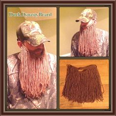 Crochet Long Duck Dynasty Beard Pattern. Toddler to by KraftyShack, $2.99  MIMI or TATA ... if I buy can you help us make for Halloween???