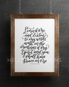 Peace in Christ Lettering Print
