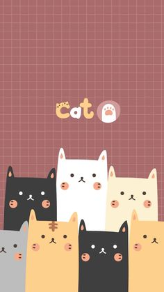 Super Cats Wallpaper Iphone Backgrounds Kawaii Ideas cat cats kitten funny cat funny cats kittens a Wallpaper Gatos, Iphone Wallpaper Cat, Cute Cat Wallpaper, Kawaii Wallpaper, Iphone Backgrounds, Pattern Wallpaper, Wallpapers Android, Cute Cartoon Wallpapers, Wallpaper Wallpapers