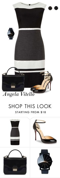"""Untitled #926"" by angela-vitello on Polyvore featuring Christian Louboutin, Furla and Melissa Joy Manning"