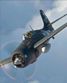 An admiration of the beauty of the classic warbirds. Grumman Aircraft, Ww2 Aircraft, Fighter Aircraft, Military Aircraft, Fighter Jets, Aircraft Engine, Navy Aircraft, Aircraft Carrier, Air Force