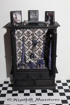 Adult Dollhouse Miniature BDSM Bondage Fetish Cabinet with Sex Toys in scale Playroom Furniture, Furniture For You, Dollhouse Furniture, Strap On Harness, Doll House Crafts, Thing 1, Tiny World, Dollhouse Accessories, Dildo