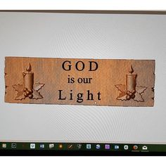 GOD is our Light rustic wood sign that will look great in an entry way, kitchen or living area.