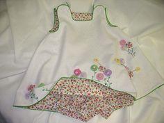 Yo-Yo Flower Garden Dress & Bloomers by Ms. Dot