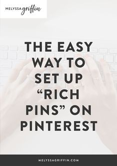 Want to learn how to grow your blog traffic with Pinterest? To help, I'd like to give you an easy pinterest marketing idea for you creative business. This post is all about how to get rich pins so you can use pinterest for business the right way! #pinterestmarketing #pinterestmarketingtips #socialmediatips #socialmediamarketing #melyssagriffin, #onlineentrepreneur, #creativebusiness Online Entrepreneur, Business Entrepreneur, Business Tips, Online Business, Creative Business, Business Coaching, Pinterest For Business, Business Inspiration, How To Get Rich