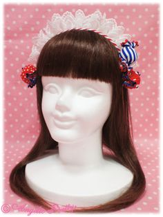 Candy Fun Fair Cafe Head Bow