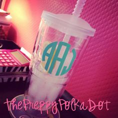 """3"""" Single Color Personalized Monogram Decal Sticker - Set of 2 on Wanelo"""